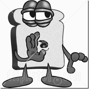 16662-Clipart-Picture-Of-A-Slice-Of-White-Bread-Food-Mascot-Cartoon-Character-Whispering-And-Telling-Secrets-Or-Gossip