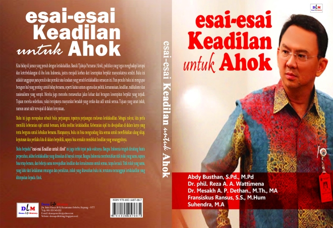 SAMPUL GABUNG Depan Belakang Esei Ahok